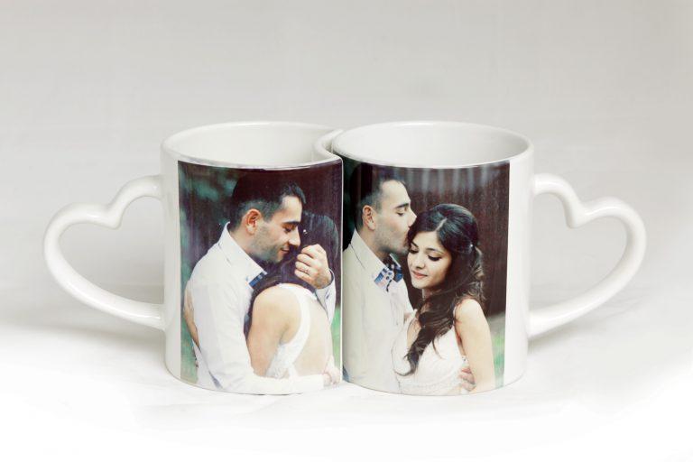бокалы с фотографиями молодой пары